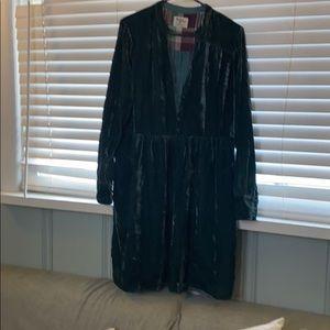 Gorgeous long sleeve velvet dress
